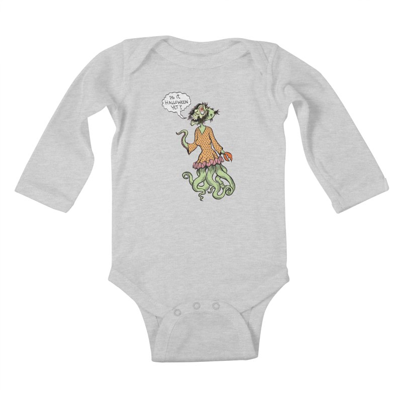 Is It Halloween Yet? Kids Baby Longsleeve Bodysuit by SkullyFlower's Sweetly Creepy Tees