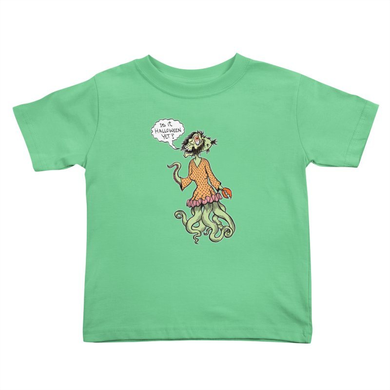 Is It Halloween Yet? Kids Toddler T-Shirt by SkullyFlower's Sweetly Creepy Tees