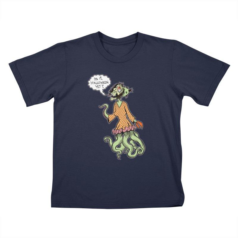Is It Halloween Yet? Kids T-shirt by SkullyFlower's Sweetly Creepy Tees