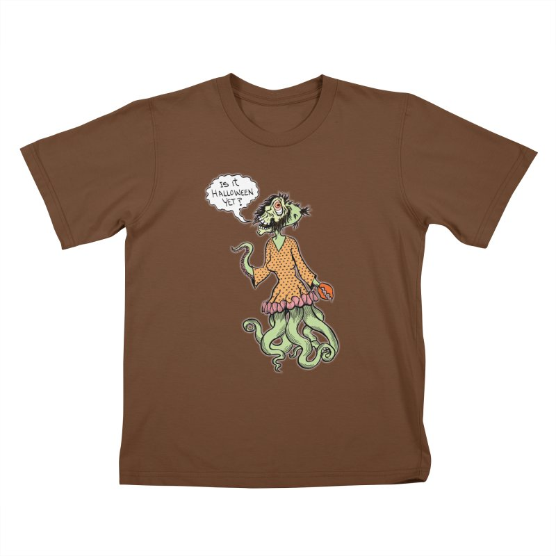 Is It Halloween Yet? Kids T-shirt by SkullyFlower's Sweetly Creepy Tees