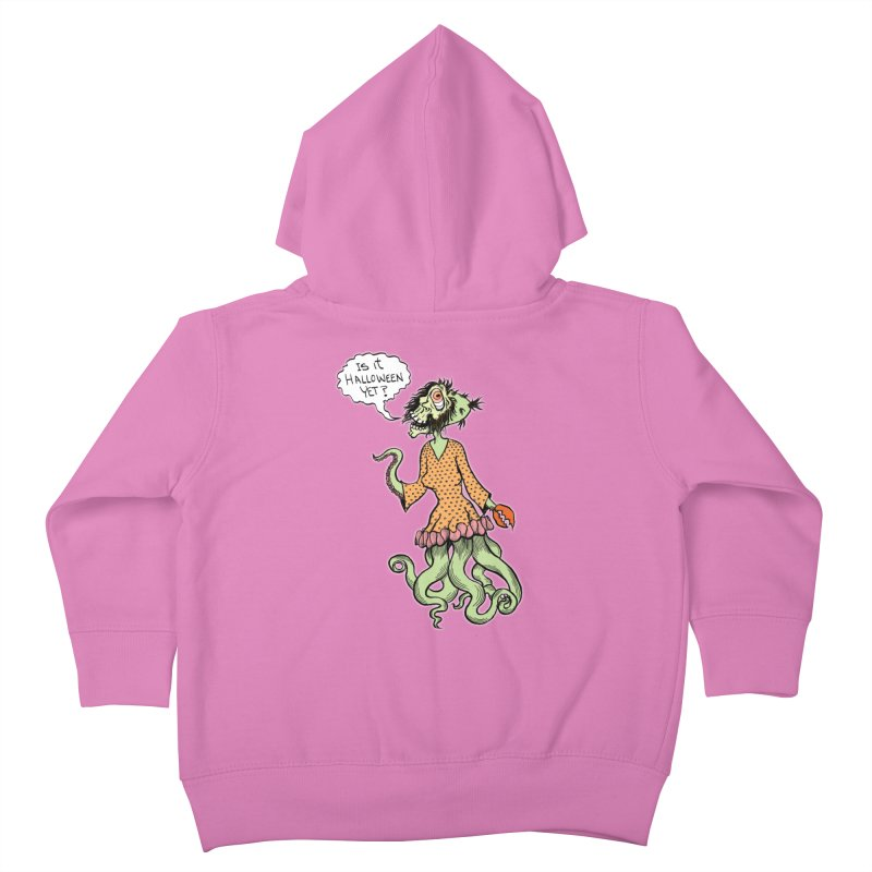 Is It Halloween Yet? Kids Toddler Zip-Up Hoody by SkullyFlower's Sweetly Creepy Tees