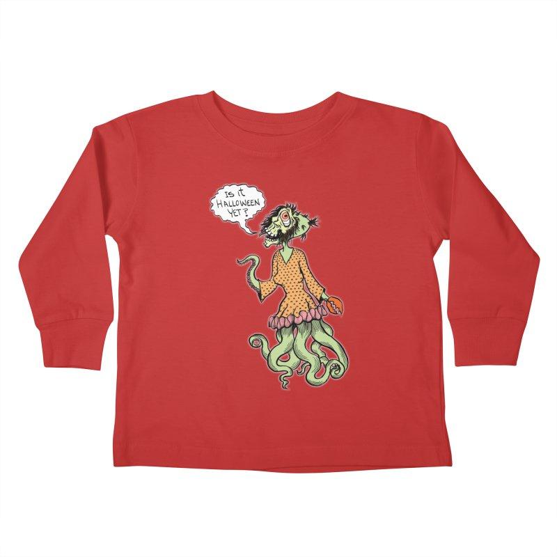 Is It Halloween Yet? Kids Toddler Longsleeve T-Shirt by SkullyFlower's Sweetly Creepy Tees