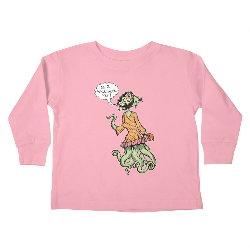 Is It Halloween Yet? Kids Toddler Longsleeve T-Shirt by SkullyFlower's Sweetly Creepy Tees