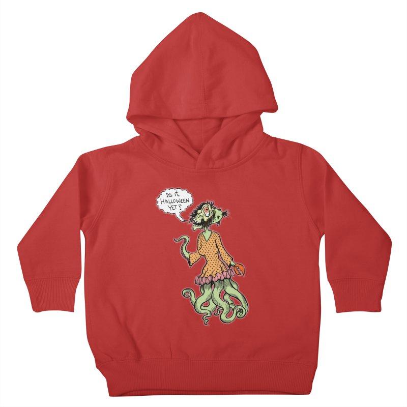 Is It Halloween Yet? Kids Toddler Pullover Hoody by SkullyFlower's Sweetly Creepy Tees