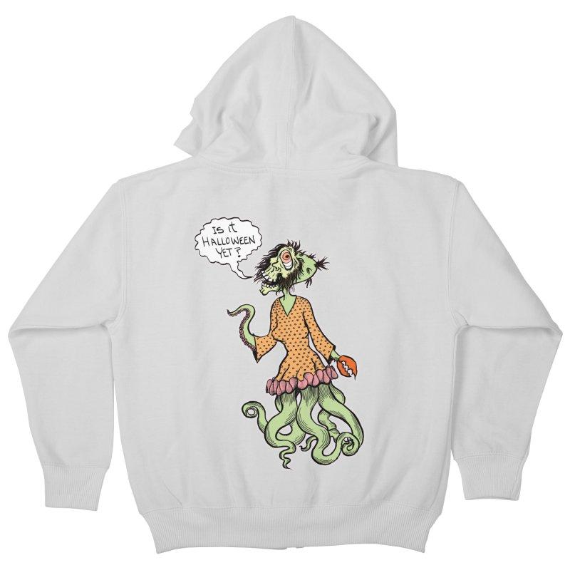 Is It Halloween Yet? Kids Zip-Up Hoody by SkullyFlower's Sweetly Creepy Tees