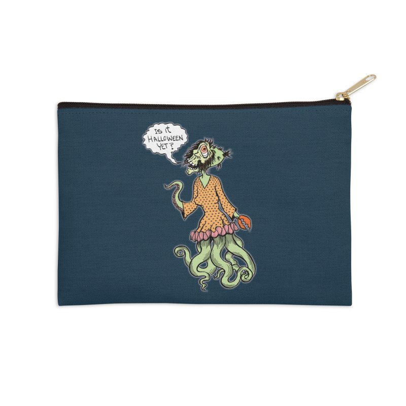 Is It Halloween Yet? Accessories Zip Pouch by SkullyFlower's Sweetly Creepy Tees
