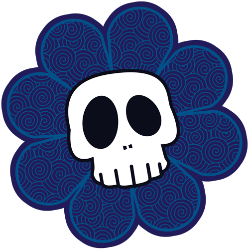 SkullyFlower's Sweetly Creepy Tees Logo