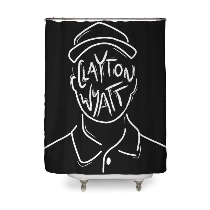 Clayton Wyatt Design Home Shower Curtain by Skylyne Music Group Store
