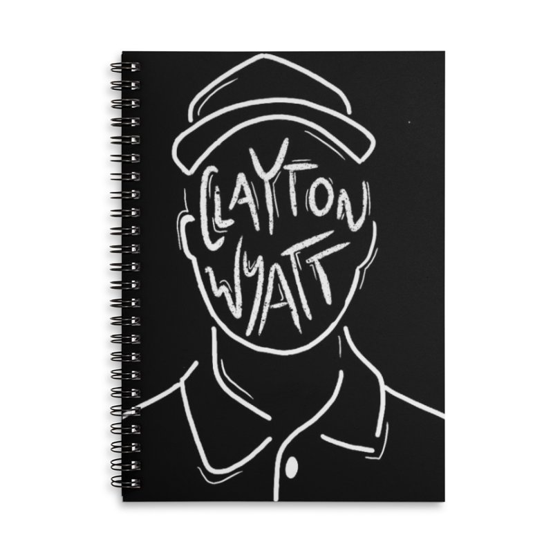 Clayton Wyatt Design Accessories Lined Spiral Notebook by Skylyne Music Group Store