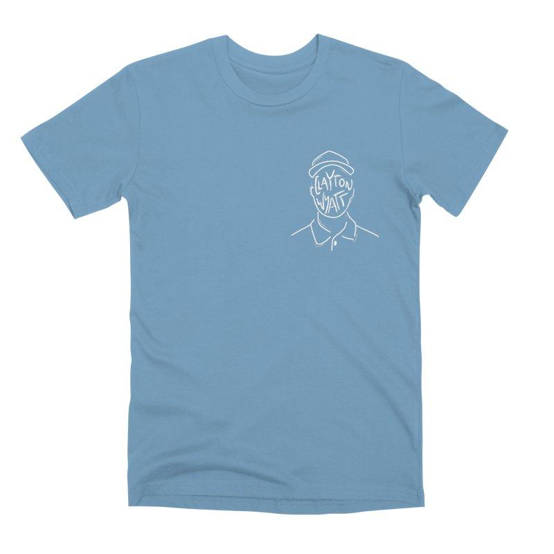 Clayton Wyatt Design in Men's Premium T-Shirt Steel Blue by Skylyne Music Group Store