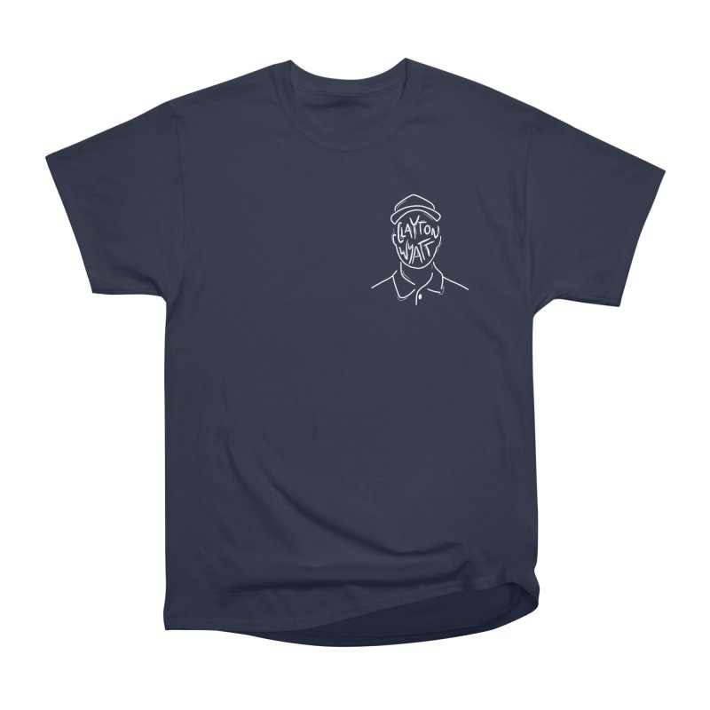 Clayton Wyatt Design in Men's Heavyweight T-Shirt Navy by Skylyne Music Group Store