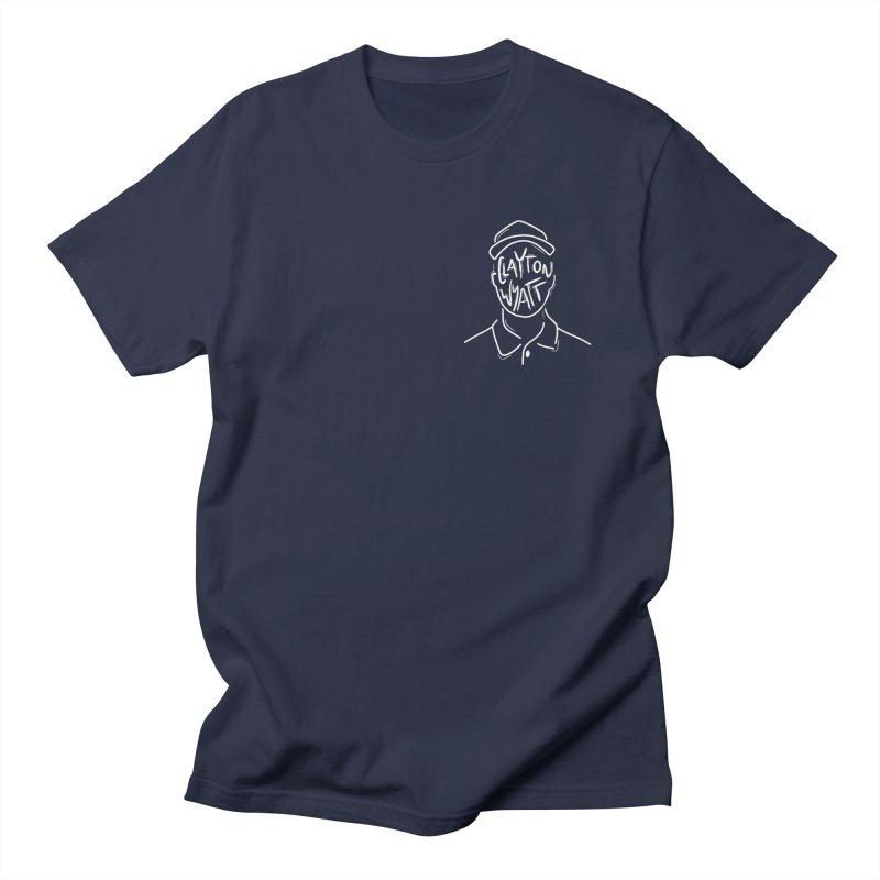 Clayton Wyatt Design in Men's Regular T-Shirt Navy by Skylyne Music Group Store