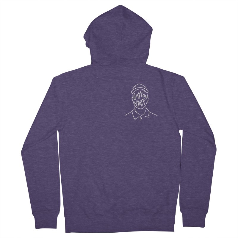 Clayton Wyatt Design Men's French Terry Zip-Up Hoody by Skylyne Music Group Store