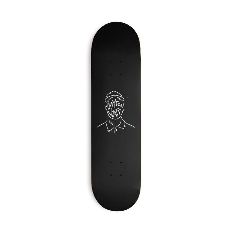 Clayton Wyatt Design in Deck Only Skateboard by Skylyne Music Group Store