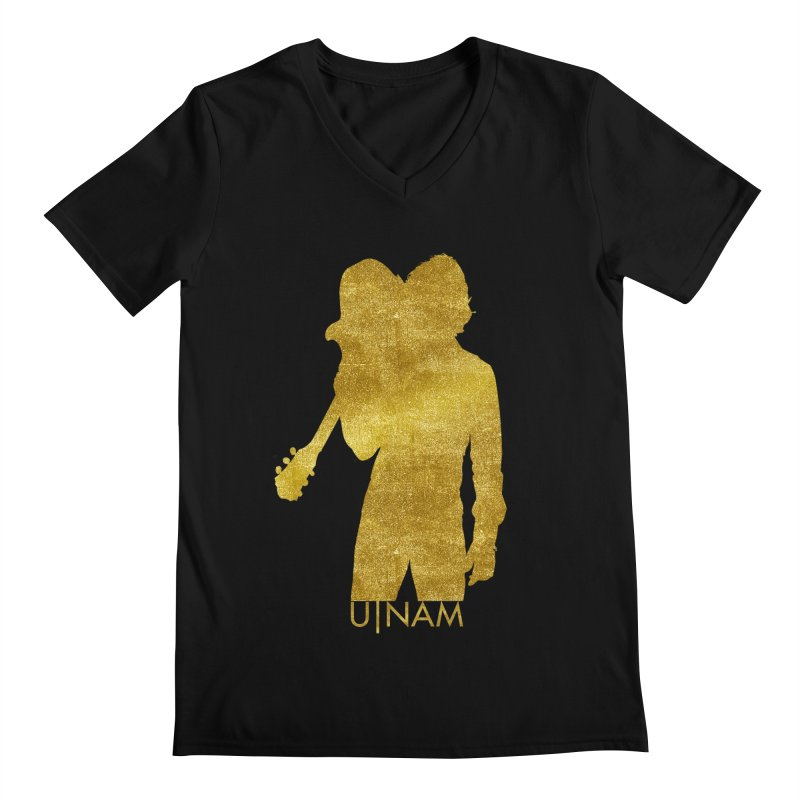 U-Nam - Guitar Gold Collection Men's V-Neck by Skytown Records Official Merch Store