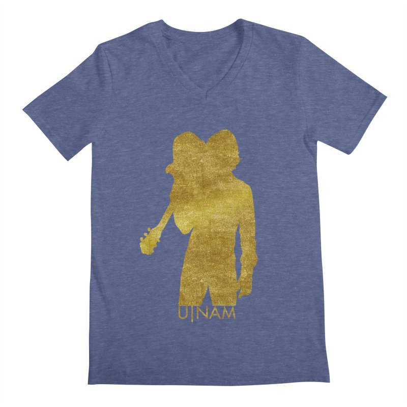 U-Nam - Guitar Gold Collection Men's Regular V-Neck by Skytown Records Official Merch Store