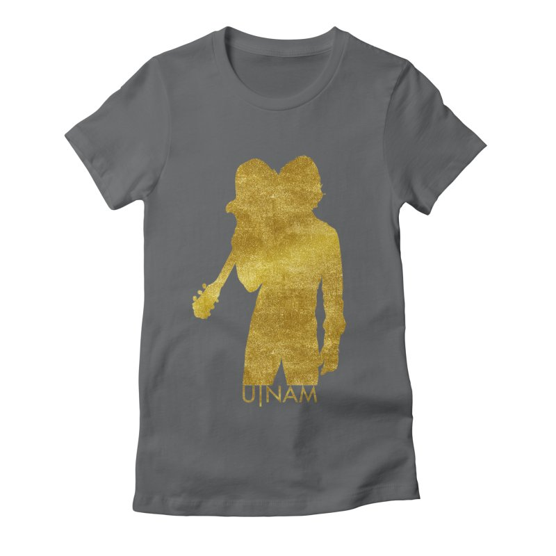 U-Nam - Guitar Gold Collection Women's Fitted T-Shirt by Skytown Records Official Merch Store