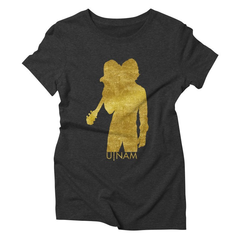 U-Nam - Guitar Gold Collection Women's Triblend T-Shirt by Skytown Records Official Merch Store