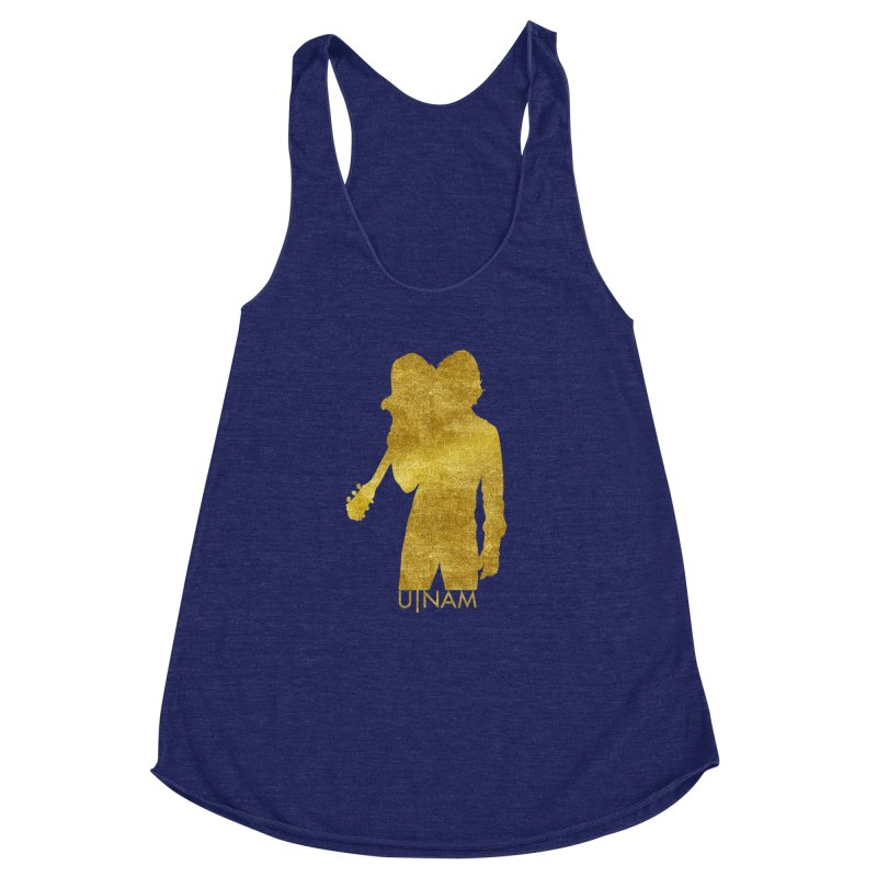 U-Nam - Guitar Gold Collection Women's Racerback Triblend Tank by Skytown Records Official Merch Store