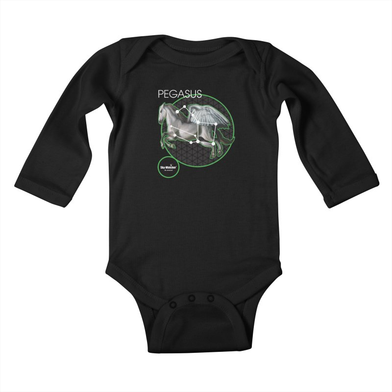 Roman Constellations_Pegasus Kids Baby Longsleeve Bodysuit by Sky-Watcher's Artist Shop