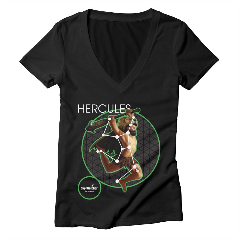 Roman Constellations_Hercules Women's V-Neck by Sky-Watcher's Artist Shop