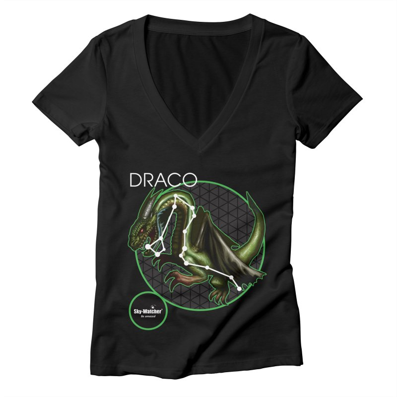 Roman Constellations_Draco Women's V-Neck by Sky-Watcher's Artist Shop