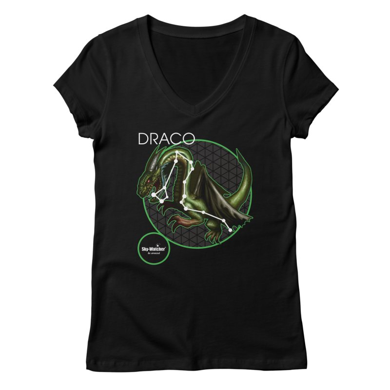 Roman Constellations_Draco Women's V-Neck by Sky-Watcher's Artist Shop