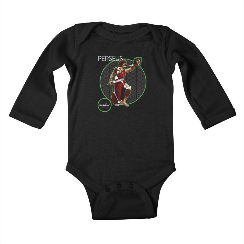 Roman Constellations_Perseus Kids Baby Longsleeve Bodysuit by Sky-Watcher's Artist Shop