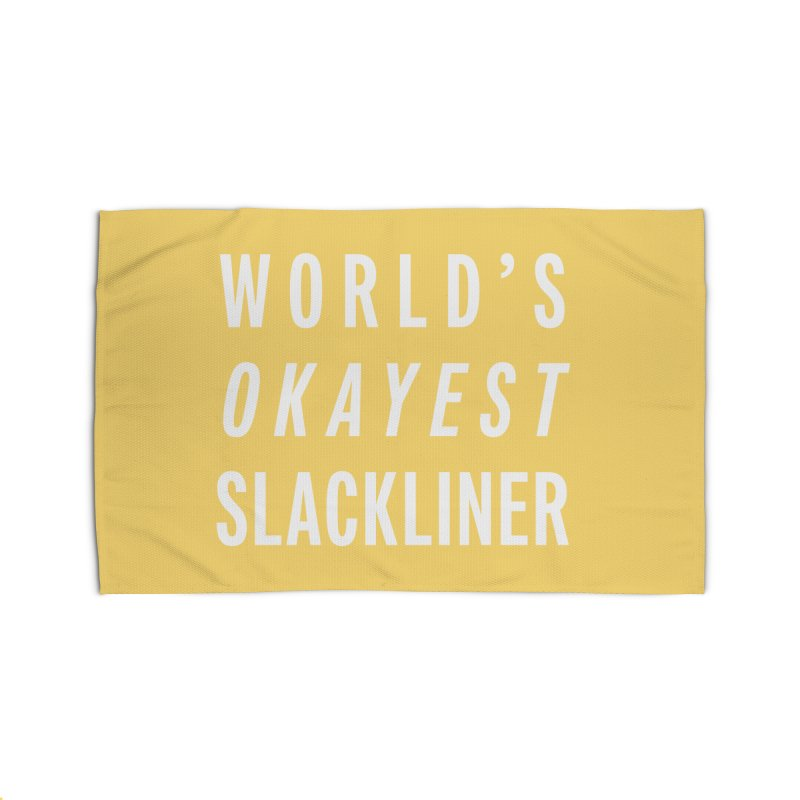 World's Okayest Slackliner Home Rug by Slack Shop