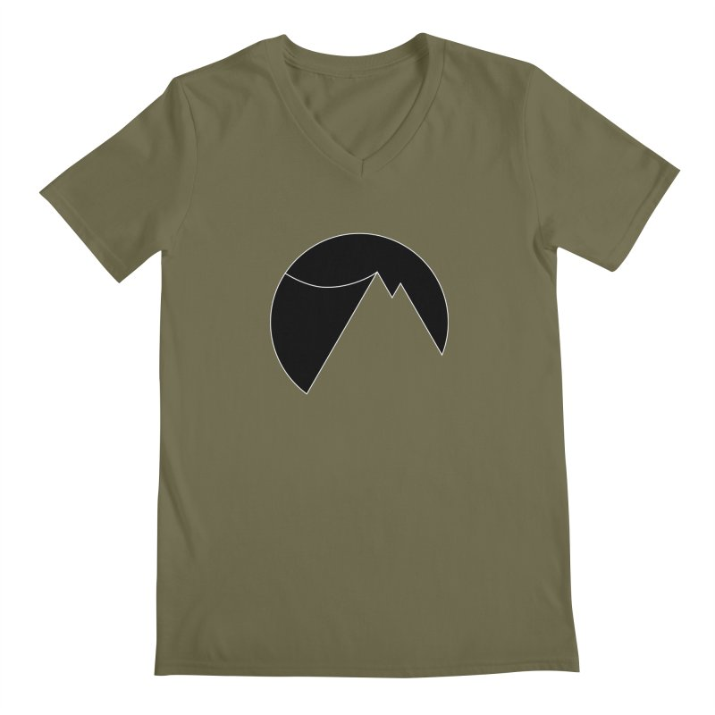 Slacklife Logo Black Men's V-Neck by Slack Shop