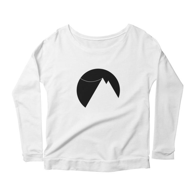 Slacklife Logo Black Women's Scoop Neck Longsleeve T-Shirt by Slack Shop