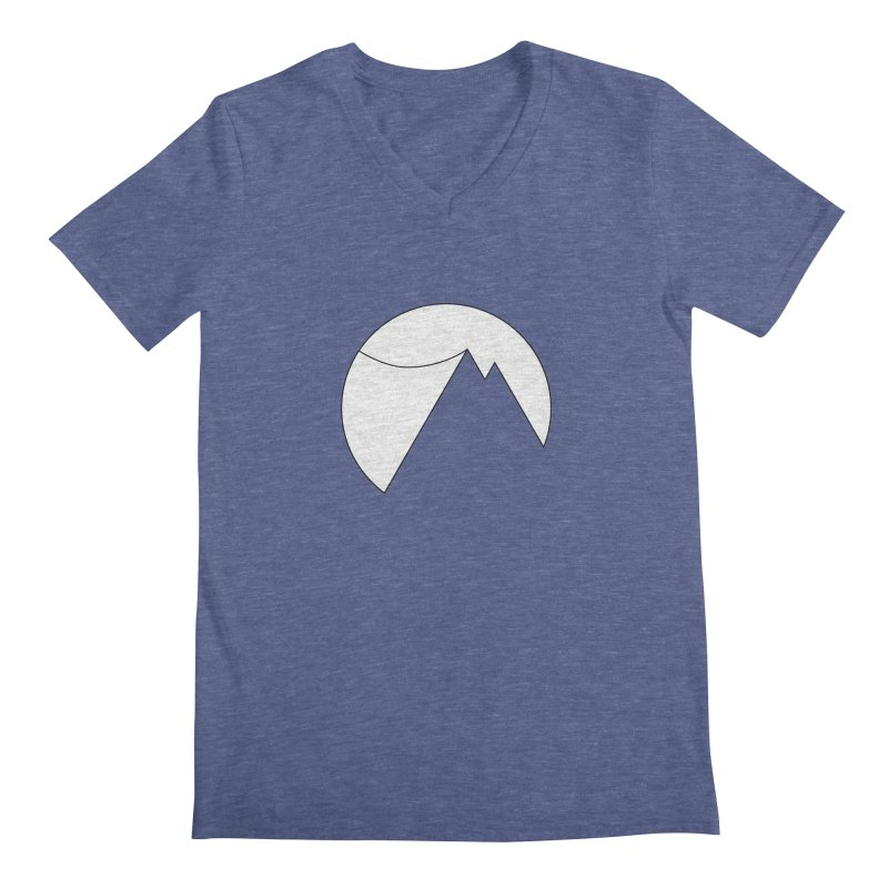 Slacklife Logo White Men's V-Neck by Slack Shop