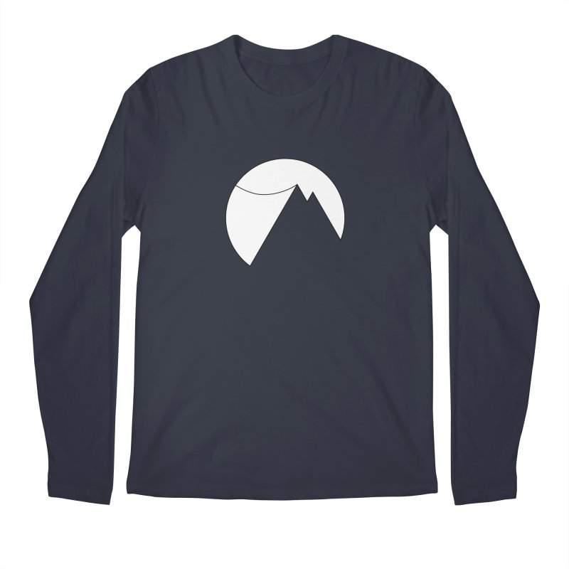Slacklife Logo White Men's Regular Longsleeve T-Shirt by Slack Shop