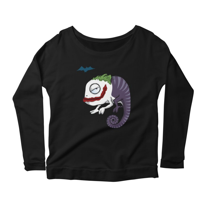 The Joker Women's Longsleeve Scoopneck  by slamhm's Artist Shop
