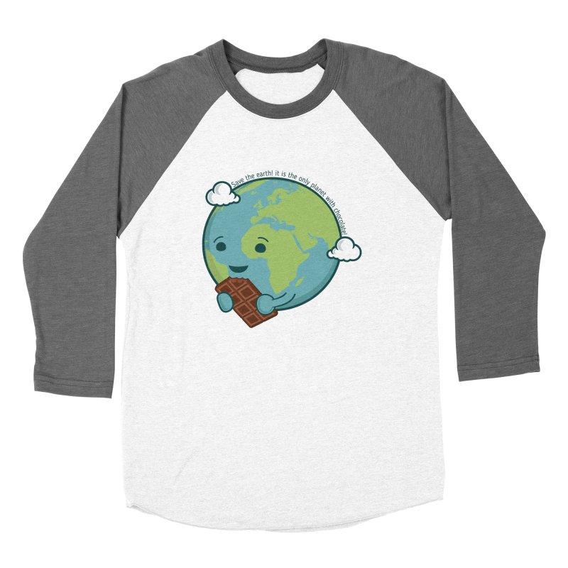 Save The Earth Women's Baseball Triblend Longsleeve T-Shirt by slamhm's Artist Shop