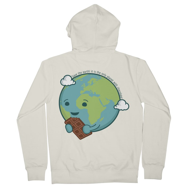 Save The Earth Women's French Terry Zip-Up Hoody by slamhm's Artist Shop