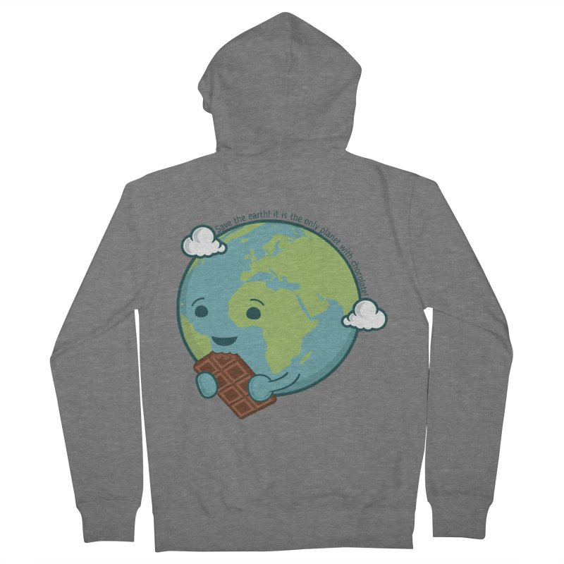 Save The Earth Men's French Terry Zip-Up Hoody by slamhm's Artist Shop