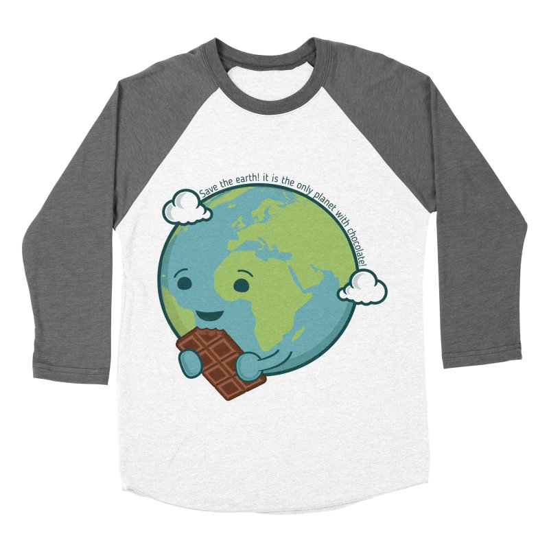 Save The Earth Men's Baseball Triblend Longsleeve T-Shirt by slamhm's Artist Shop
