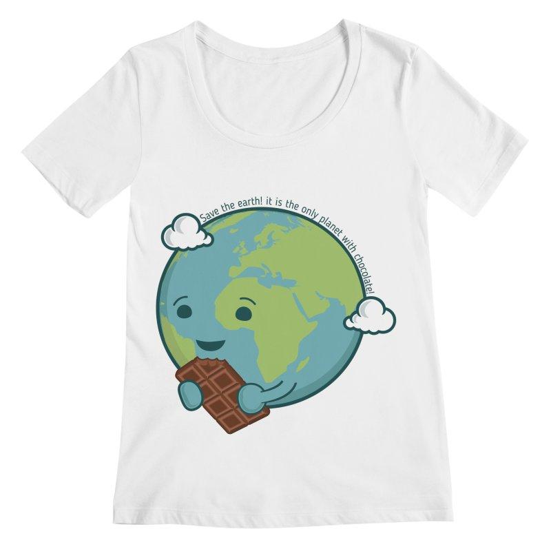 Save The Earth Women's Regular Scoop Neck by slamhm's Artist Shop