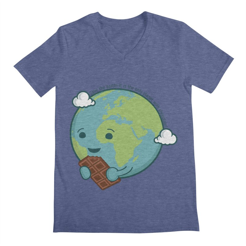 Save The Earth Men's V-Neck by slamhm's Artist Shop