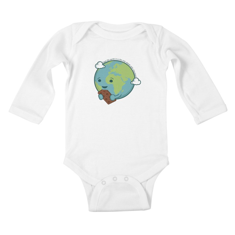 Save The Earth Kids Baby Longsleeve Bodysuit by slamhm's Artist Shop