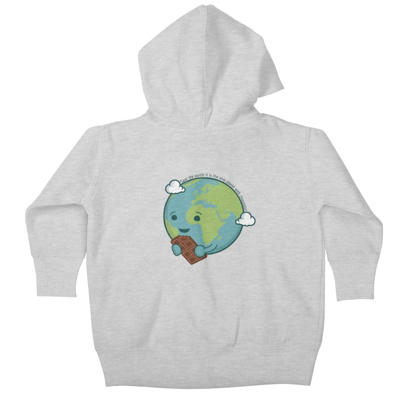 Save The Earth Kids Baby Zip-Up Hoody by slamhm's Artist Shop