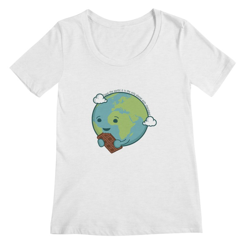 Save The Earth Women's Scoopneck by slamhm's Artist Shop
