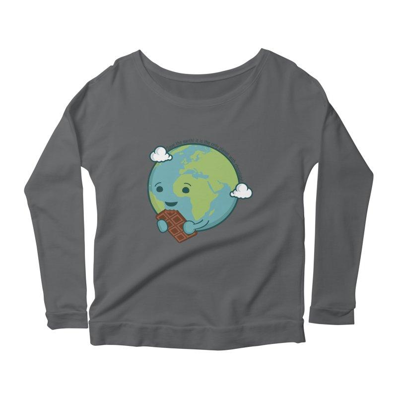 Save The Earth Women's Scoop Neck Longsleeve T-Shirt by slamhm's Artist Shop