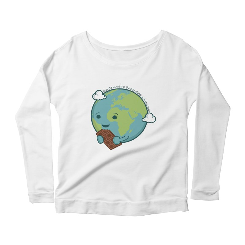 Save The Earth Women's Scoop Neck Longsleeve T-Shirt by slamhm's Artist Shop