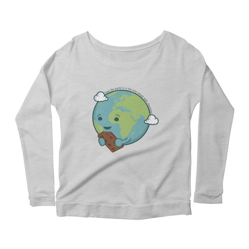 Save The Earth Women's Longsleeve Scoopneck  by slamhm's Artist Shop