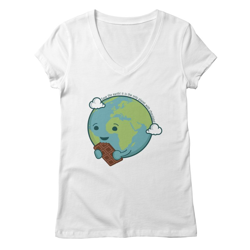 Save The Earth Women's Regular V-Neck by slamhm's Artist Shop