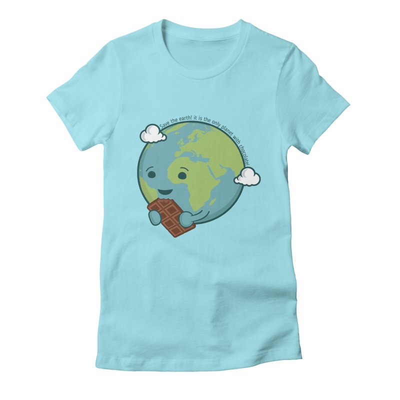 Save The Earth Women's Fitted T-Shirt by slamhm's Artist Shop