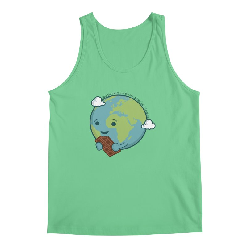 Save The Earth Men's Regular Tank by slamhm's Artist Shop