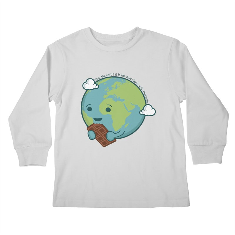 Save The Earth Kids Longsleeve T-Shirt by slamhm's Artist Shop